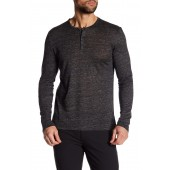 Long Sleeve Linen Henley