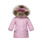 Arrious Water Resistant Hooded Down Coat with Genuine Fox Fur Trim (Baby Girls)