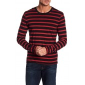 Long Sleeve Stripe Crew Neck Tee