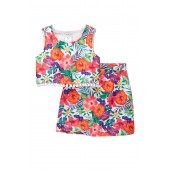 Floral Tank with Fitted 2-Piece Set (Big Girls)