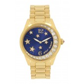 Womens Moon and Stars Crystal Watch