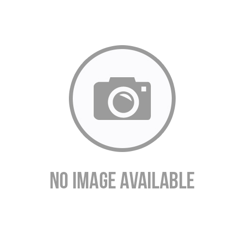 Mens Check Stamped Leather Strap Watch