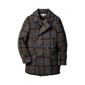 Double-Breasted Plaid Overcoat (Toddler, Little Boys, & Big Boys)