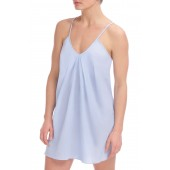 Cotton Voile Pleated Chemise