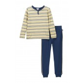 Striped Henley Set (Little Boys)