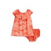 Tie-Dye with Lurex Striped Dress & Bloomers (Baby Girls)