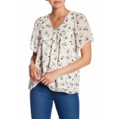 Swiss Dot Textured Woven Blouse