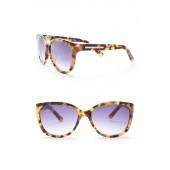Womens 58mm Acetate Cat Eye Sunglasses