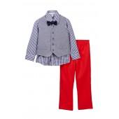 4-Piece Vest Set (Little Boys)