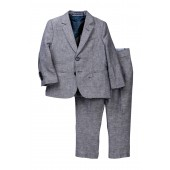 2-Piece Heathered Suit Set (Toddler & Little Boys)