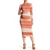 Printed Stella Bodycon Dress (Maternity)