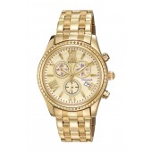 Womens Eco-Drive Chronograph Stainless Bracelet Watch, 40mm