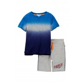 Dip-Dye Tee & Shorts Set (Toddler & Little Boys)
