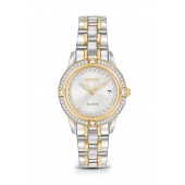 Womens Eco-Drive Silhouette Crystal Watch, 26mm