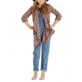 Live It Down Flannel Cardigan (Little Girls & Big Girls)
