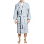 Triple Stripe Fleece Robe