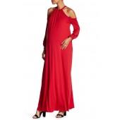 Eliot Cold Shoulder Knit Dress (Maternity)