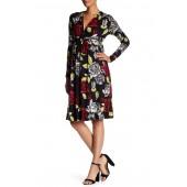 Long Sleeve Print Caftan Dress (Maternity)