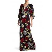 Short Sleeve Print Caftan Dress (Maternity)