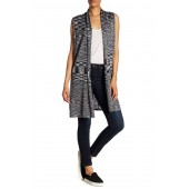 Shawl Collar Space Dye Knit Vest