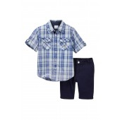 2-Piece Woven Shirt & Short Set (Toddler Boys)