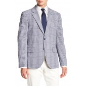 Gingham Print Woven Jacket
