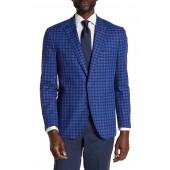 Banan Checkered Notch Collar Long Sleeve Stretch Fit Jacket