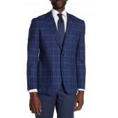Kaius Plaid Notch Collar Long Sleeve Stretch Fit Jacket