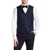Slim Fit Buttoned Wool Vest