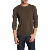 Heathered Knit Crew Neck Sweater