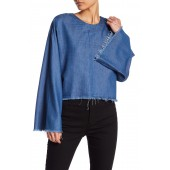 Frayed Chambray Blouse
