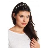 Floral & Pearl Detail Headband