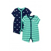 Whale Rompers - 2-Piece Set (Baby Boys)