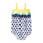 Flower Baby Bubble One-Piece Swimsuit (Baby Girls)