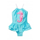 Seahorse Bustle One Piece (Baby, Toddler, & Little Girls)