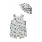 Jungle Fun Sunsuit & Hat Set (Baby Boys)