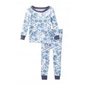 Organic Watercolor Hive Cotton PJ Set (Baby Boys)