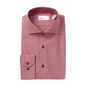 Solid Twill Trim Fit Dress Shirt