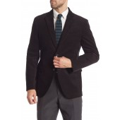 Solid Corduroy Two Button Notch Lapel Trim Fit Suit Separates Jacket