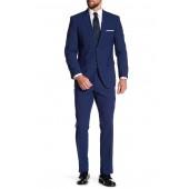 Blue Check Two Button Notch Lapel Slim Fit Suit