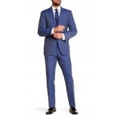 Solid Blue Notch Lapel Suit