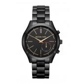 Womens Black Slim Runway Bracelet Watch, 42mm