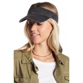 Bow Washed Canvas Visor