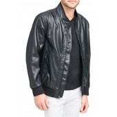 Beekman Faux Leather Bomber