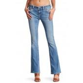 Mid Rise Boot Cut Jean
