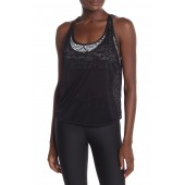 Double-Up Printed Sports Bra Tank