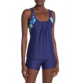 Double-Up Tropical Sports Bra Tank