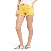 Decon Ripped Denim Shorts (Marigold)