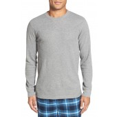 Waffle Knit Long Sleeve T-Shirt (Regular & Tall)