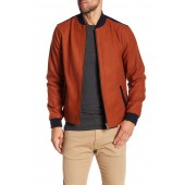 Colorblock Wool Blend Bomber